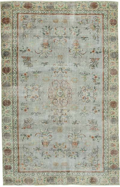 """Vintage Turkish Hand-knotted Area Rug - 6' 3"""" x 9' 10"""" (75 in. x 118 in.)"""