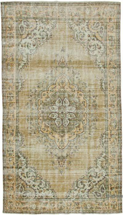 """Vintage Turkish Hand-knotted Area Rug - 5' 11"""" x 10' 8"""" (71 in. x 128 in.)"""