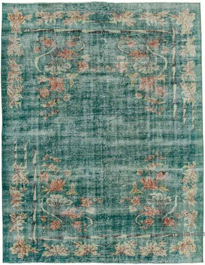 """Vintage Turkish Hand-knotted Area Rug - 6' 10"""" x 8' 9"""" (82 in. x 105 in.)"""
