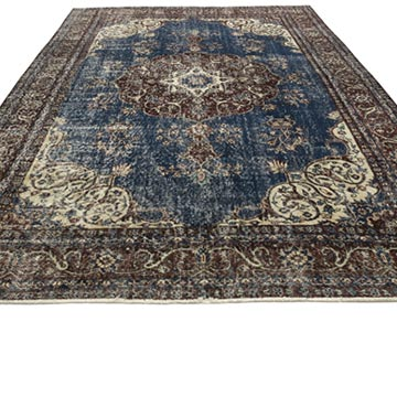"""Vintage Turkish Hand-Knotted Rug - 6' 9"""" x 10'  (81 in. x 120 in.) - K0050662"""