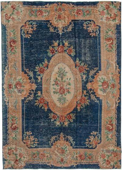 "Vintage Turkish Hand-knotted Area Rug - 6' 8"" x 9' 5"" (80 in. x 113 in.)"