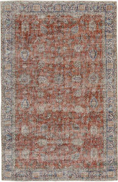 "Vintage Turkish Hand-knotted Area Rug - 6' 5"" x 9' 10"" (77 in. x 118 in.)"