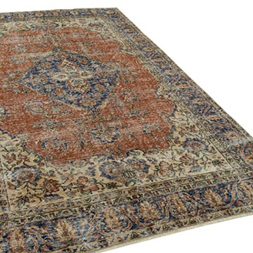 """Vintage Turkish Hand-Knotted Rug - 6'  x 10' 1"""" (72 in. x 121 in.) - K0050681"""