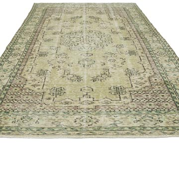 """Vintage Turkish Hand-Knotted Rug - 6' 1"""" x 9' 9"""" (73 in. x 117 in.) - K0050685"""