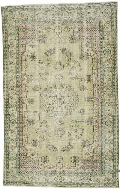 """Vintage Turkish Hand-Knotted Rug - 6' 1"""" x 9' 9"""" (73 in. x 117 in.)"""