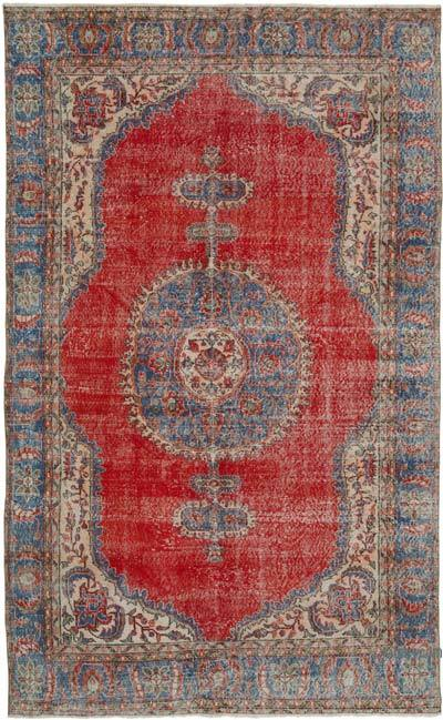 """Vintage Turkish Hand-knotted Area Rug - 6' 6"""" x 10' 6"""" (78 in. x 126 in.)"""