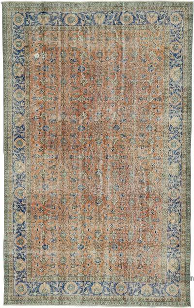 """Vintage Turkish Hand-knotted Area Rug - 6' 3"""" x 9' 11"""" (75 in. x 119 in.)"""