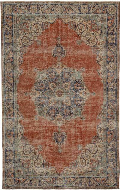 """Vintage Turkish Hand-Knotted Rug - 6' 4"""" x 10' 1"""" (76 in. x 121 in.)"""