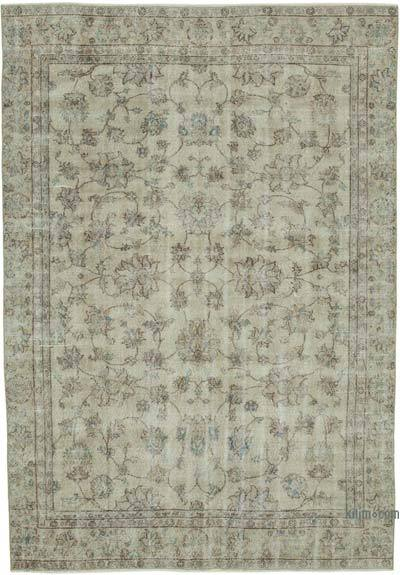 """Vintage Turkish Hand-knotted Area Rug - 6' 8"""" x 9' 7"""" (80 in. x 115 in.)"""