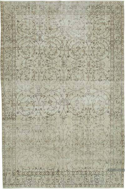"Vintage Turkish Hand-knotted Area Rug - 6' 7"" x 9' 11"" (79 in. x 119 in.)"