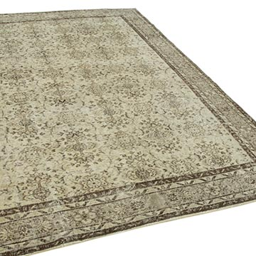 """Vintage Turkish Hand-Knotted Rug - 6' 10"""" x 10'  (82 in. x 120 in.) - K0050725"""