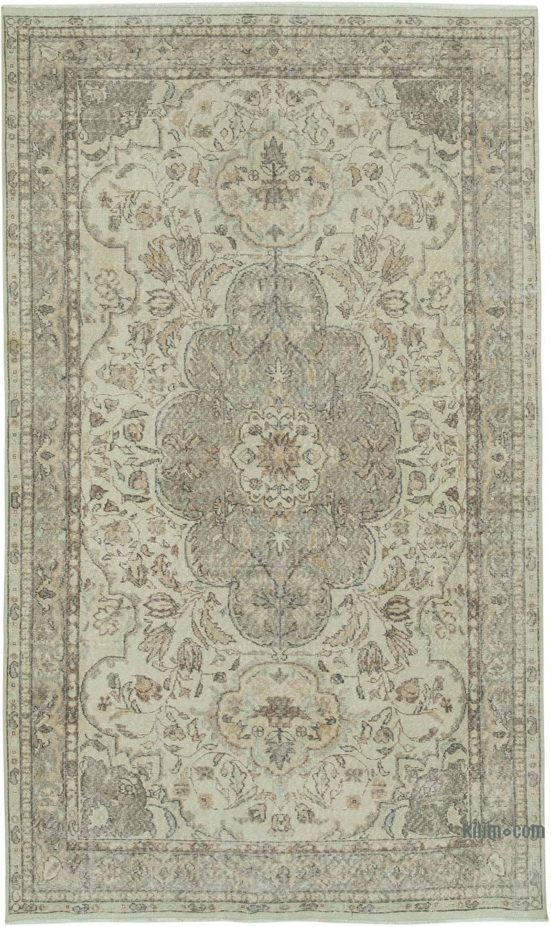 """Vintage Turkish Hand-Knotted Rug - 6' 3"""" x 11'  (75 in. x 132 in.) - K0050729"""