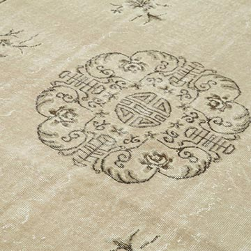 Vintage Turkish Hand-knotted Area Rug - 6' 10# x 10' 2# (82 in. x 122 in.) - K0050732
