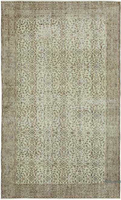 """Vintage Turkish Hand-Knotted Rug - 5' 6"""" x 8' 11"""" (66 in. x 107 in.)"""