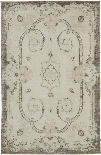 """Vintage Turkish Hand-knotted Area Rug - 6' 5"""" x 9' 11"""" (77 in. x 119 in.)"""