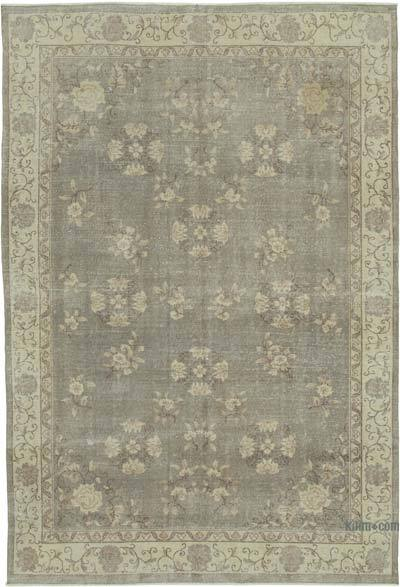 """Vintage Turkish Hand-Knotted Rug - 6' 8"""" x 9' 9"""" (80 in. x 117 in.)"""