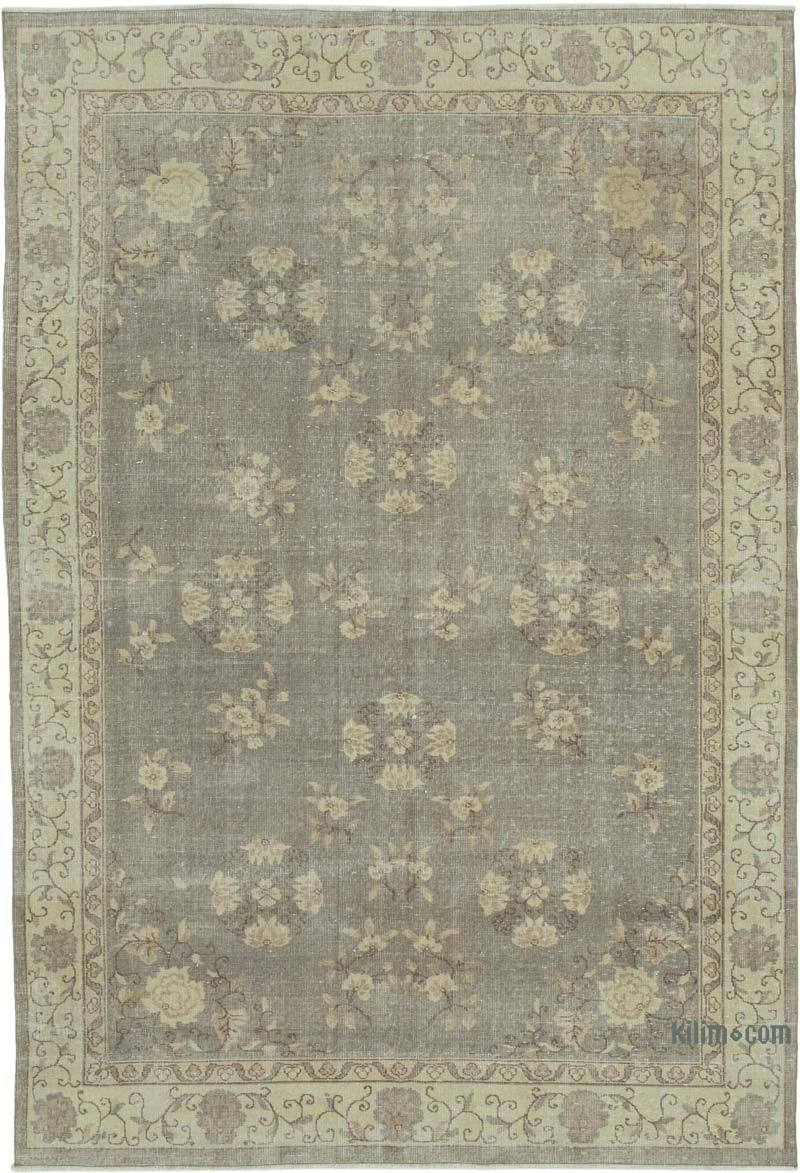 """Vintage Turkish Hand-Knotted Rug - 6' 8"""" x 9' 9"""" (80 in. x 117 in.) - K0050750"""