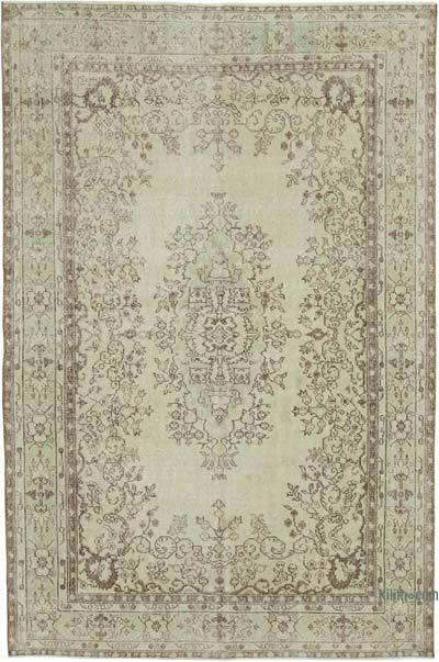 """Vintage Turkish Hand-knotted Area Rug - 6' 9"""" x 10' 2"""" (81 in. x 122 in.)"""