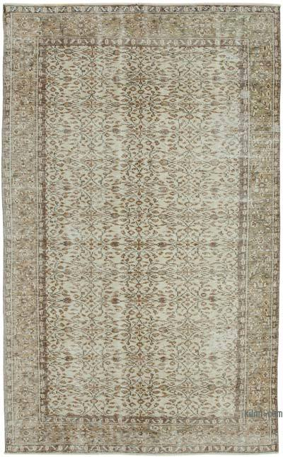 "Vintage Turkish Hand-knotted Area Rug - 5' 7"" x 8' 11"" (67 in. x 107 in.)"