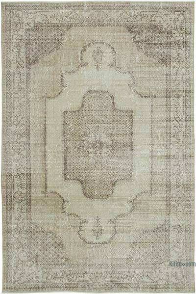 """Vintage Turkish Hand-knotted Area Rug - 6' 8"""" x 10' 1"""" (80 in. x 121 in.)"""
