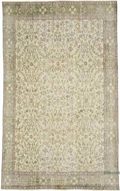 """Vintage Turkish Hand-knotted Area Rug - 5' 5"""" x 8' 11"""" (65 in. x 107 in.)"""