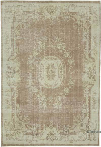 """Vintage Turkish Hand-knotted Area Rug - 6' 10"""" x 9' 10"""" (82 in. x 118 in.)"""