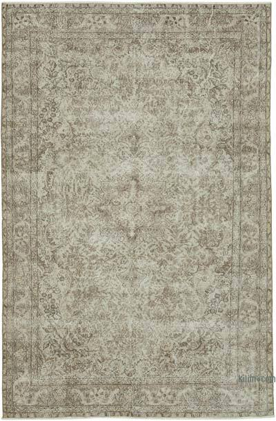 "Vintage Turkish Hand-knotted Area Rug - 6' 8"" x 10' 3"" (80 in. x 123 in.)"
