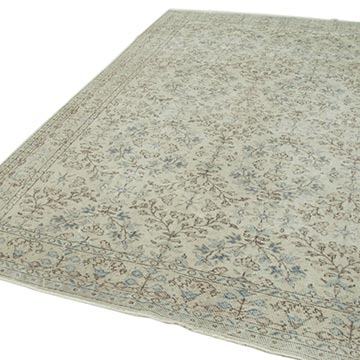 """Vintage Turkish Hand-Knotted Rug - 6' 8"""" x 10' 1"""" (80 in. x 121 in.) - K0050769"""