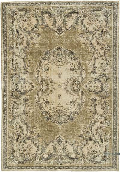 """Vintage Turkish Hand-knotted Area Rug - 6' 11"""" x 10'  (83 in. x 120 in.)"""