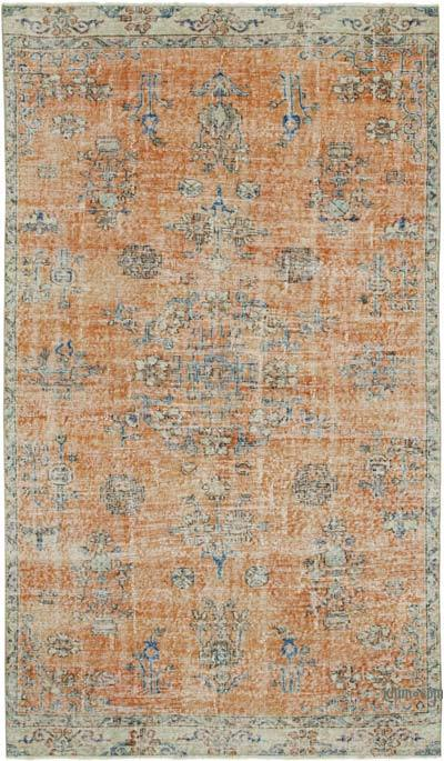 """Vintage Turkish Hand-Knotted Rug - 5' 2"""" x 9'  (62 in. x 108 in.)"""