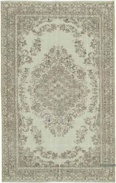 "Vintage Turkish Hand-knotted Area Rug - 5' 7"" x 8' 10"" (67 in. x 106 in.)"