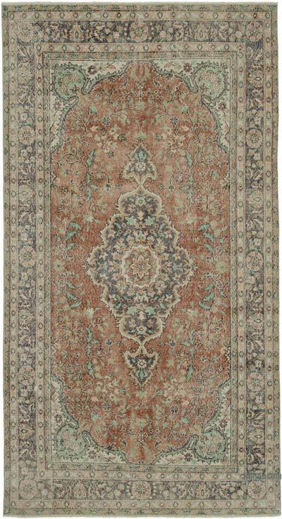 "Vintage Turkish Hand-knotted Area Rug - 5' 9"" x 10' 9"" (69 in. x 129 in.)"