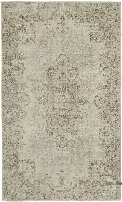 """Vintage Turkish Hand-knotted Area Rug - 5' 8"""" x 9' 4"""" (68 in. x 112 in.)"""