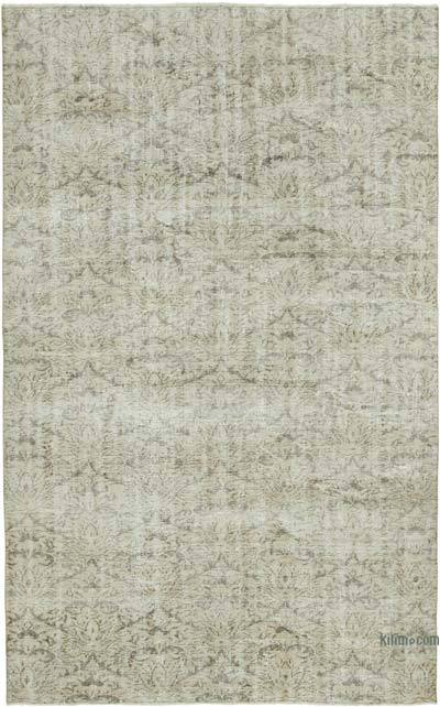 "Vintage Turkish Hand-knotted Area Rug - 6' 4"" x 10'  (76 in. x 120 in.)"