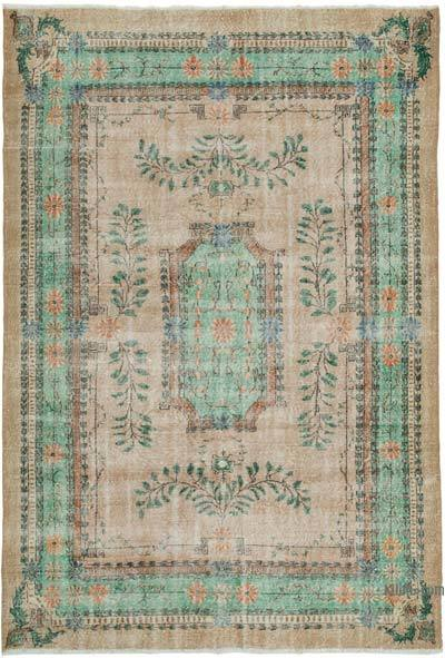 "Vintage Turkish Hand-knotted Area Rug - 7' 5"" x 10' 6"" (89 in. x 126 in.)"