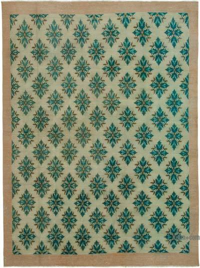 """Vintage Turkish Hand-knotted Area Rug - 7' 2"""" x 9' 6"""" (86 in. x 114 in.)"""