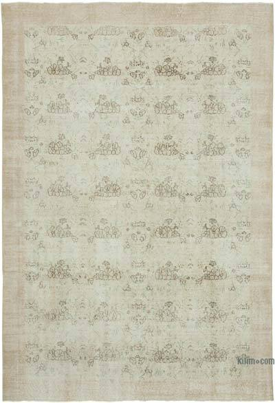 """Vintage Turkish Hand-Knotted Rug - 6' 9"""" x 9' 7"""" (81 in. x 115 in.)"""