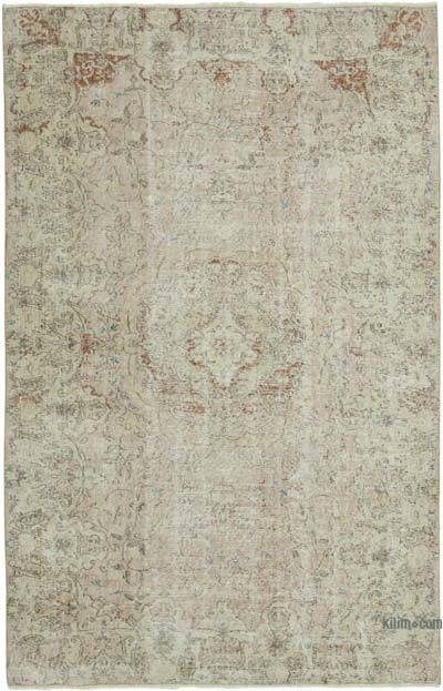 """Vintage Turkish Hand-knotted Area Rug - 5' 4"""" x 8' 2"""" (64 in. x 98 in.)"""