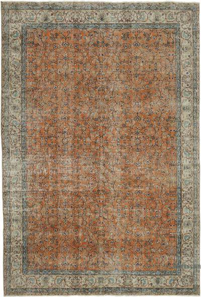 """Vintage Turkish Hand-Knotted Rug - 6' 7"""" x 9' 7"""" (79 in. x 115 in.)"""