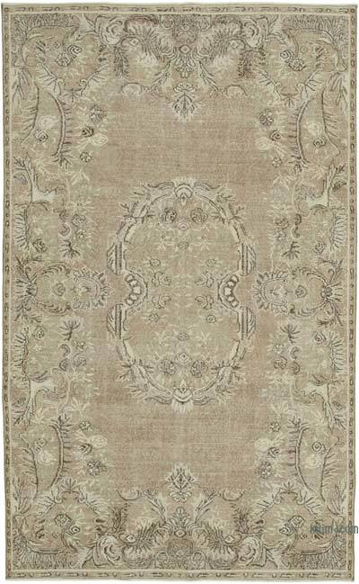 """Vintage Turkish Hand-knotted Area Rug - 6' 1"""" x 9' 9"""" (73 in. x 117 in.)"""