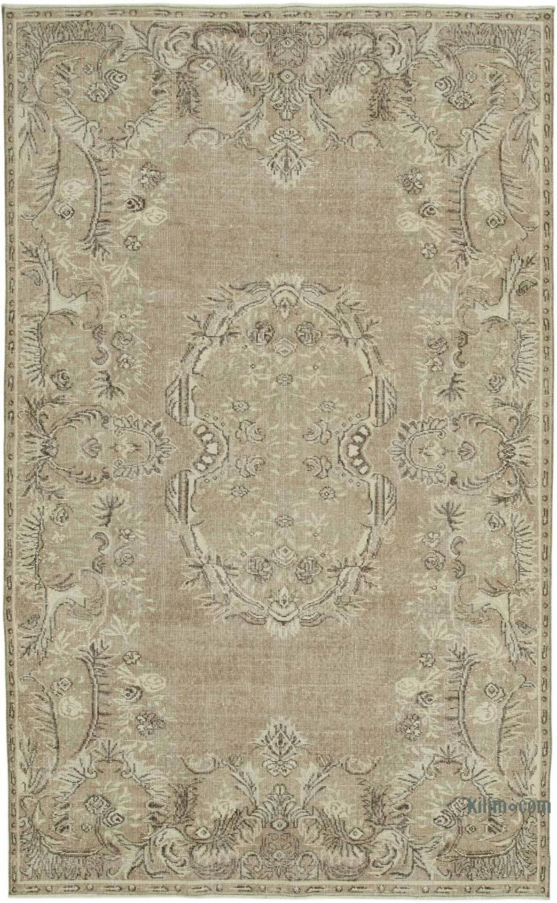 """Vintage Turkish Hand-Knotted Rug - 6' 1"""" x 9' 9"""" (73 in. x 117 in.) - K0050842"""