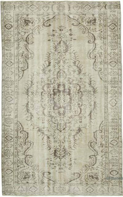 "Vintage Turkish Hand-knotted Area Rug - 6' 1"" x 9' 7"" (73 in. x 115 in.)"