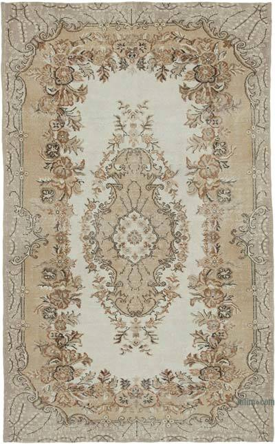 """Vintage Turkish Hand-Knotted Rug - 5' 9"""" x 9' 4"""" (69 in. x 112 in.)"""