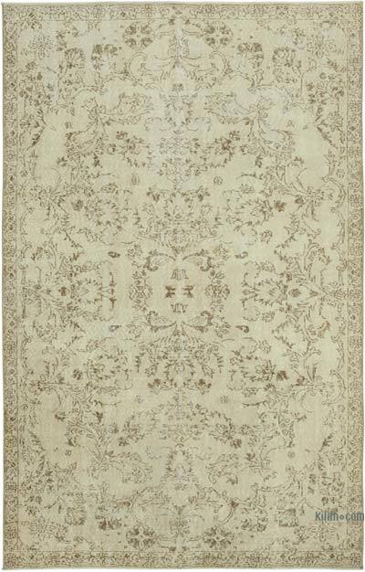 """Vintage Turkish Hand-knotted Area Rug - 4' 10"""" x 9' 5"""" (58 in. x 113 in.)"""