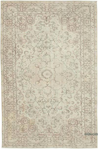 """Vintage Turkish Hand-knotted Area Rug - 5' 7"""" x 8' 8"""" (67 in. x 104 in.)"""