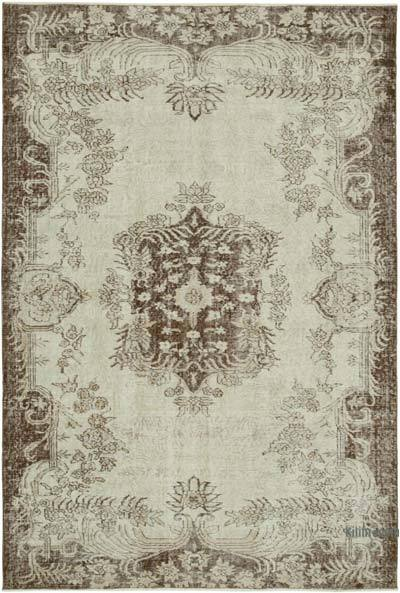 """Vintage Turkish Hand-Knotted Rug - 5' 6"""" x 8'  (66 in. x 96 in.)"""