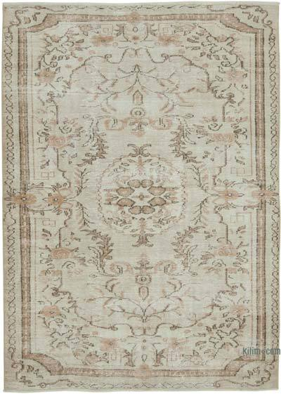 """Vintage Turkish Hand-knotted Area Rug - 6'  x 8' 3"""" (72 in. x 99 in.)"""
