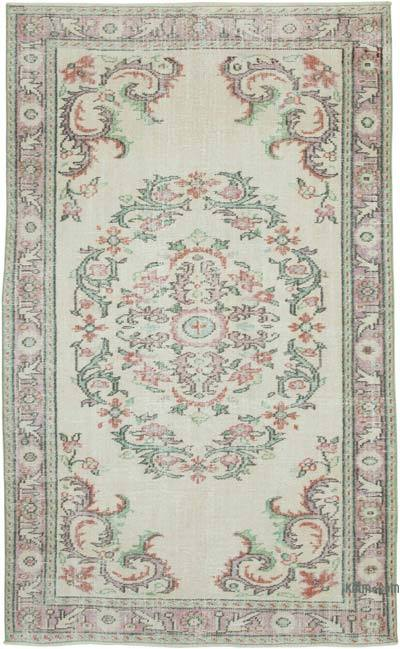 """Vintage Turkish Hand-Knotted Rug - 5' 4"""" x 8' 10"""" (64 in. x 106 in.)"""