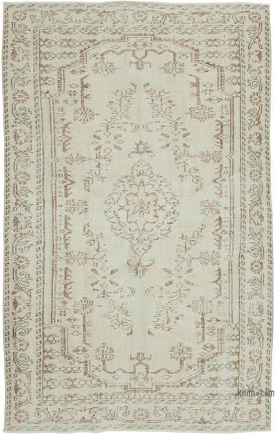 """Vintage Turkish Hand-Knotted Rug - 5' 4"""" x 8' 9"""" (64 in. x 105 in.)"""