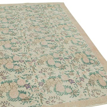 """Vintage Turkish Hand-Knotted Rug - 5' 5"""" x 8' 11"""" (65 in. x 107 in.) - K0050882"""